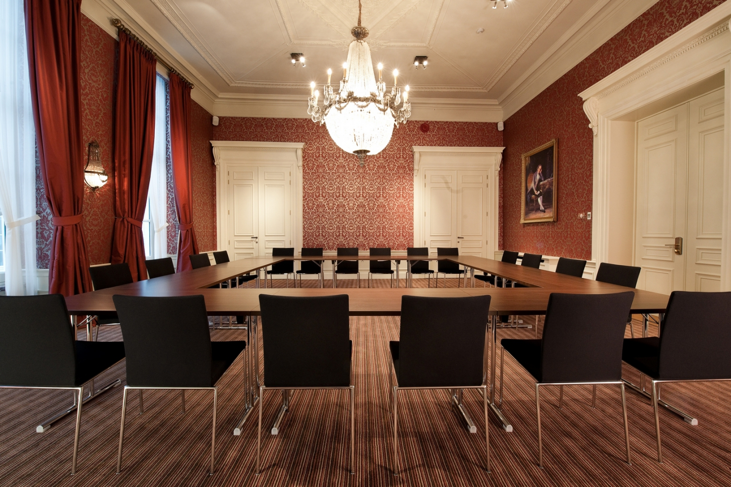 Boardrooms in a luxury hotel in Bruges
